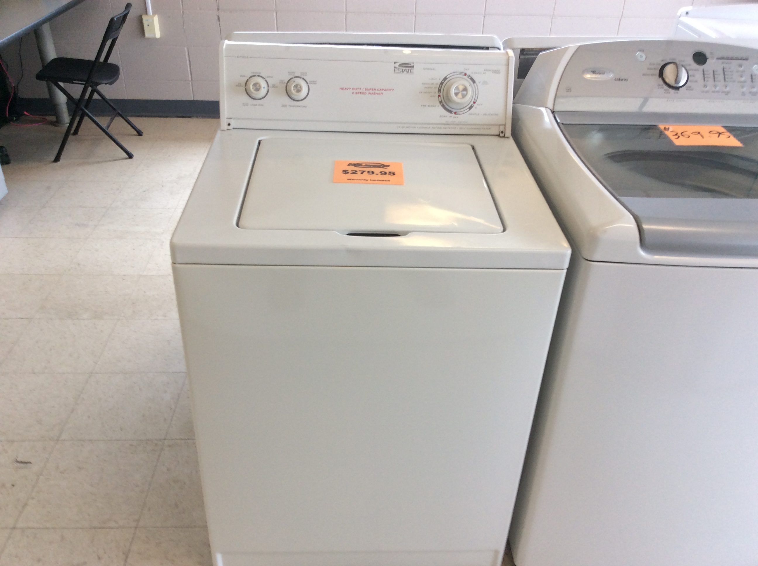 Whirlpool Estate Top Load Washer Kelbachs